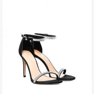 Giày nữ cao gót 9 cm quai đính ngọc trai sang trọng PE3841