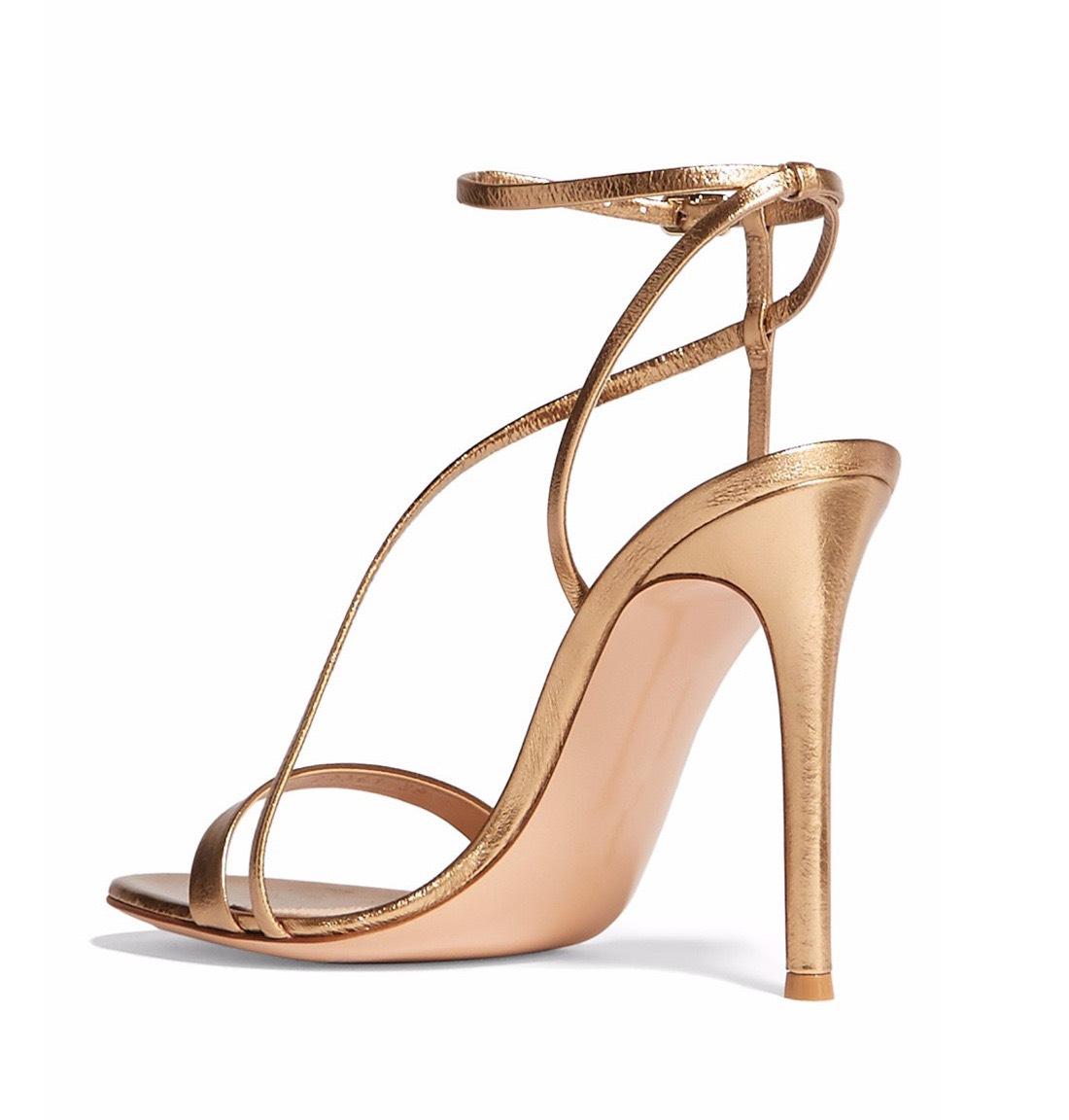 Giày cao gót Erosska thời trang mũi vuông gót hở phối dây